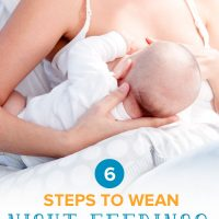 How to wean night feedings: A mother nursing her baby