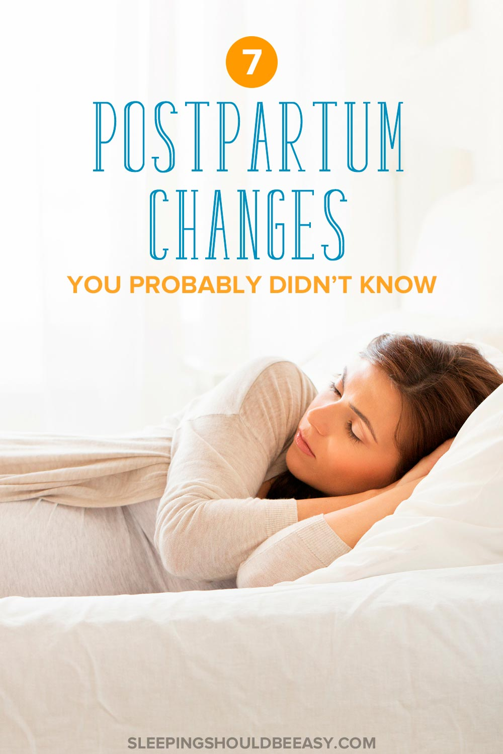 A woman lying down: postpartum changes you probably didn't know