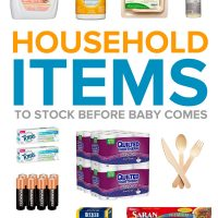Household Items to Stock Up Before Baby Arrives