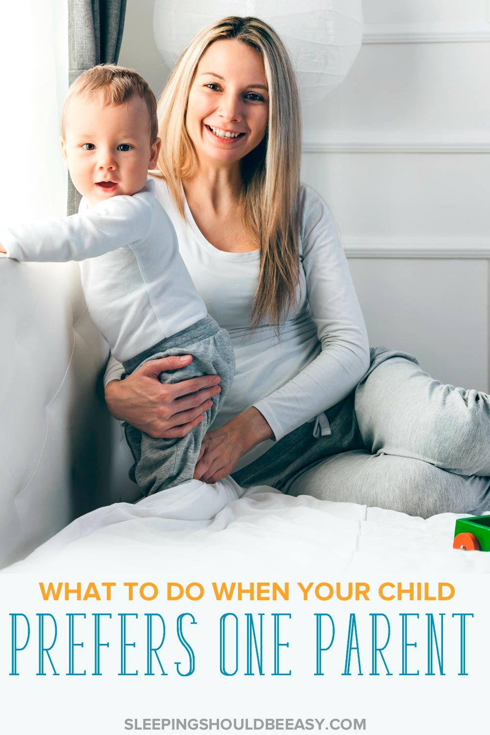 Struggling when your toddler prefers one parent over the other? Learn the best ways to help him cope with separation anxiety and take to both parents. Even includes a FREE 5-Day Better Parenting Email Challenge, where you'll tackle one parenting tip per day you can implement right away!