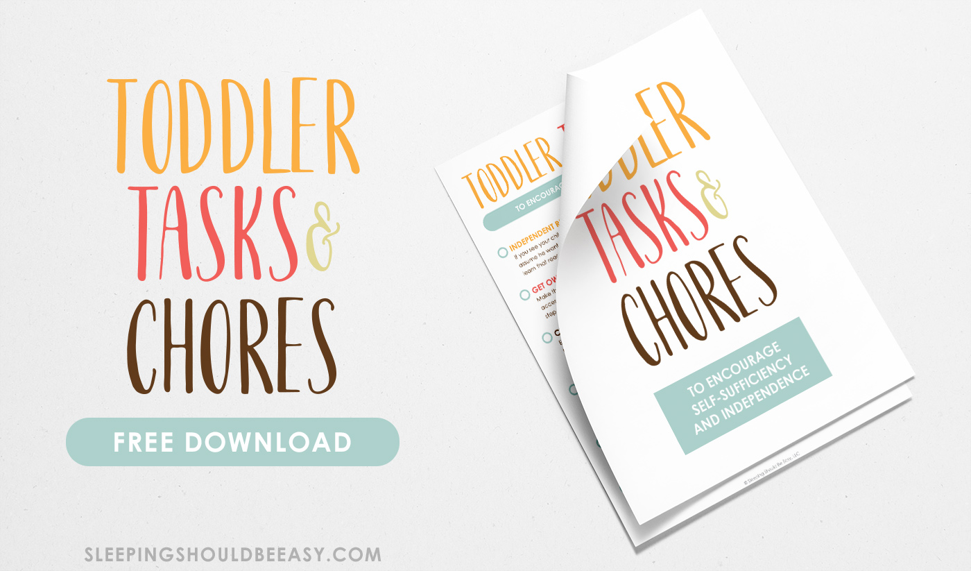 A free printable of Toddler Tasks and Chores