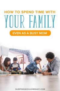 Everyone has heard the importance of spending time with family, but what do you do when you feel like you have no time? From too many responsibilities to life getting in the way, it can be hard to make time for our kids and partners. Get an insider's look on how I spend time with my family, even as a busy mom. Even includes a FREE printable of play ideas you can do after work! #familytime