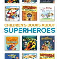 A collection of superhero books for kids