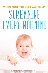 Losing your mind because your toddler wakes up screaming every morning? Discover the reasons behind your child's hysterical wake ups, and what to do to turn his cranky mornings around. Even includes a FREE PDF resource on how to help your child wake up happy, not cranky! #cranky #toddlers #toddlerlife