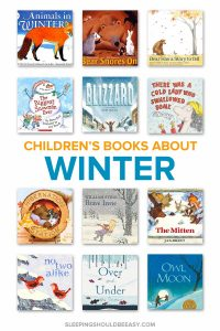 A collection of winter books for preschoolers