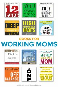 Collection of books for working moms