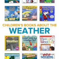 Collection of children's books about the weather