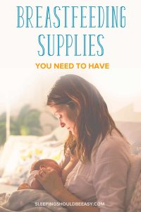 A mom breastfeeding her baby: Breastfeeding supplies you need to have