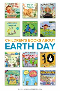 A collection of Earth Day books for kids