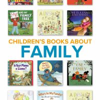 A collection of children's books about family