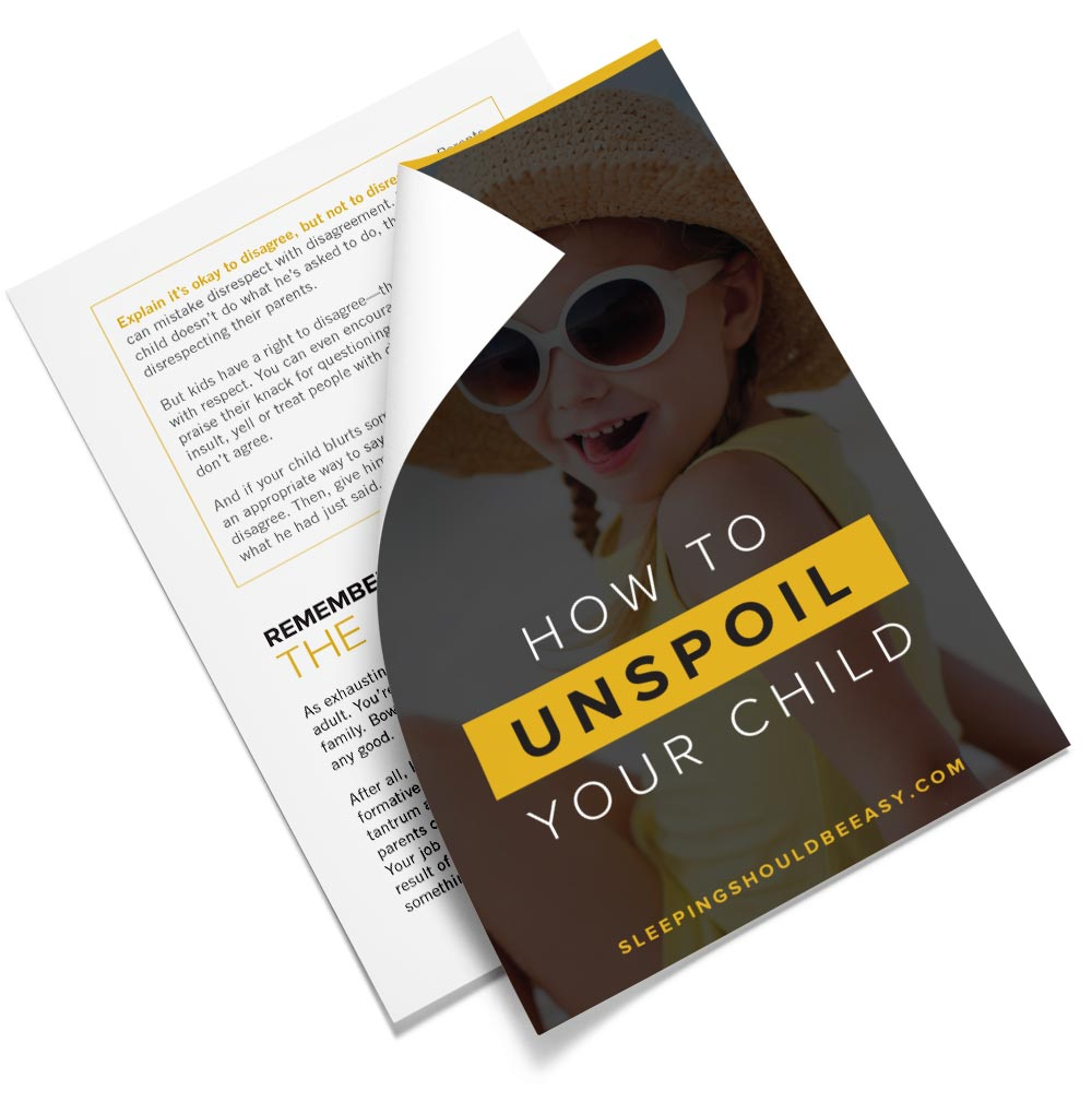 PDF on how to unspoil your child