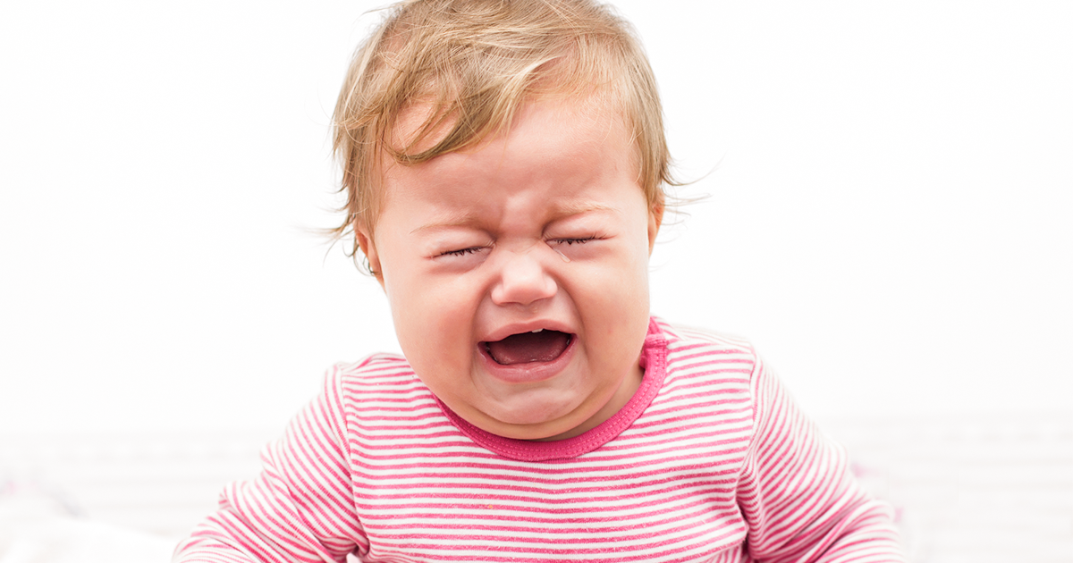 what to do when your baby wakes up crying hysterically