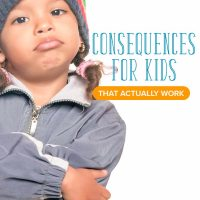 Consequenes for kids: A little girl with her arms crossed pouting