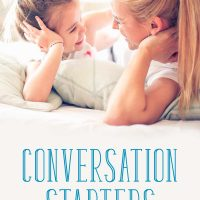 Mom and daughter talking: Conversation starters for kids