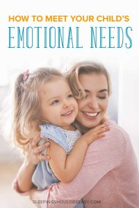 How to meet the emotional needs of a child: Mom and daughter hugging