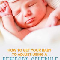 Baby sleeping with a newborn schedule