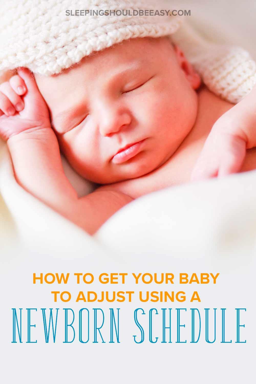 Baby sleeping with a newborn schedule