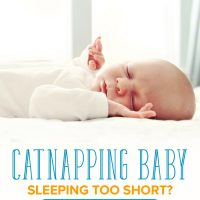 Catnapping baby asleep