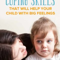 Mom teaching her daughter coping skills for kids