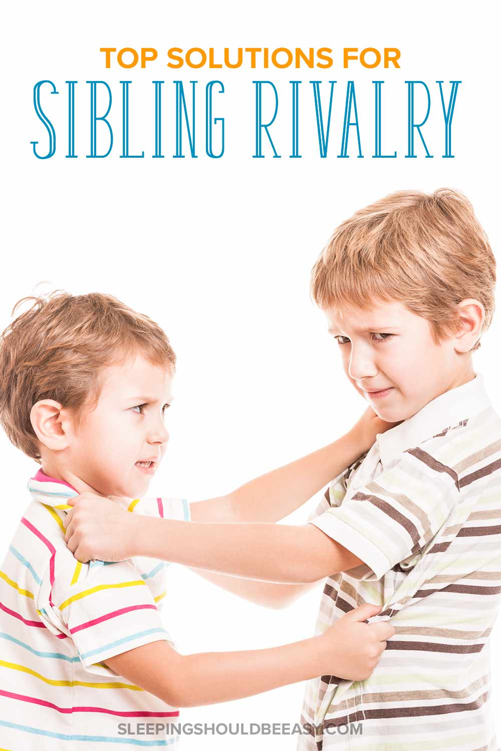 Sibling rivalry solutions: Two brothers fighting
