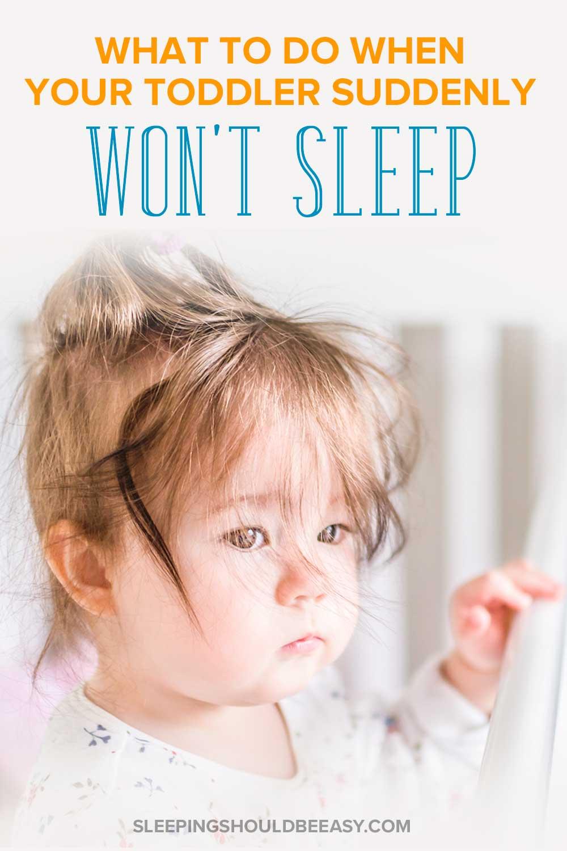 A sleepy toddler who won't sleep