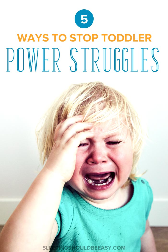 Little girl crying in the middle of a toddler power struggle