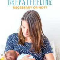 A mom breastfeeding her newborn baby
