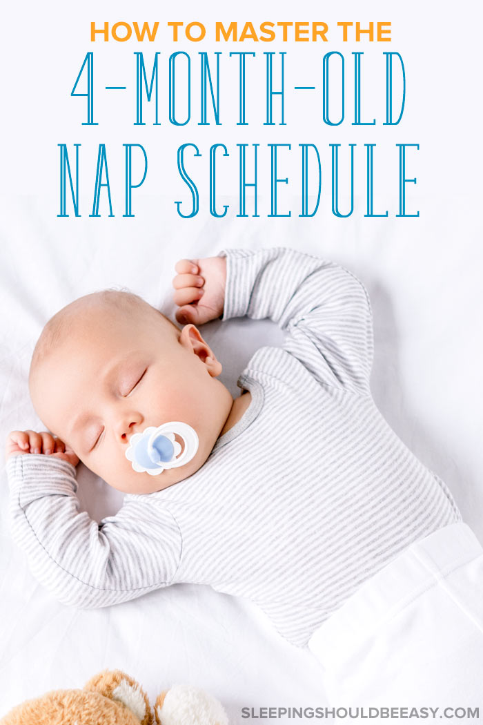 How to create 4 month old nap schedule: A baby sleeping