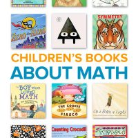 A collection of math books for kids