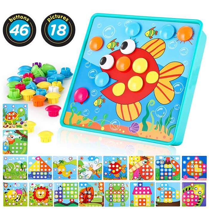 Baby Color Button Art Toys