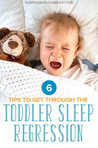 A little boy going through the toddler sleep regression