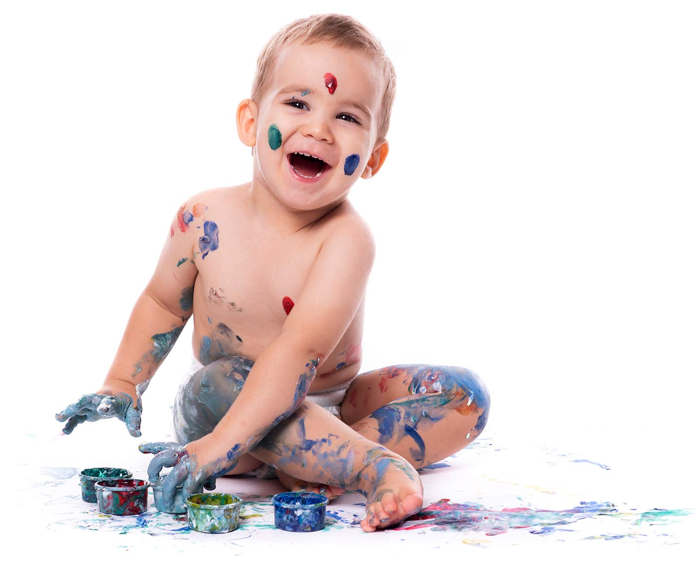 A child participating in sensory activities for 1 year olds