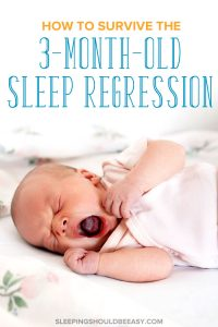 A little baby crying from the 3 month old sleep regression